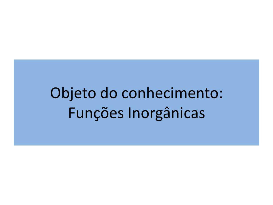 Objeto do conhecimento: Funções Inorgânicas