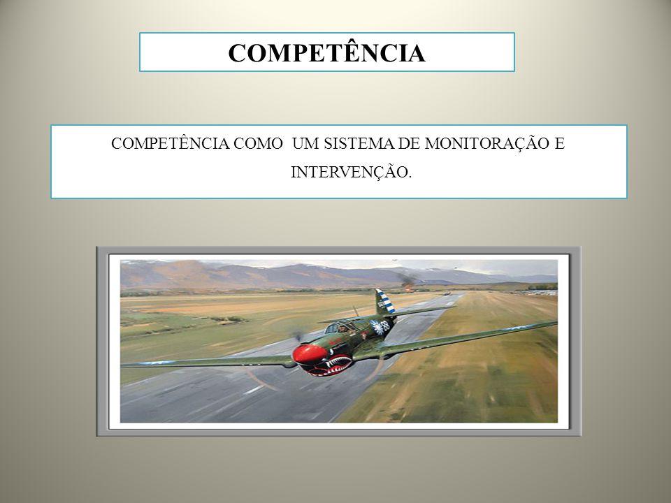 COMPETÊNCIA COMO UM SISTEMA DE MONITORAÇÃO E INTERVENÇÃO. COMPETÊNCIA