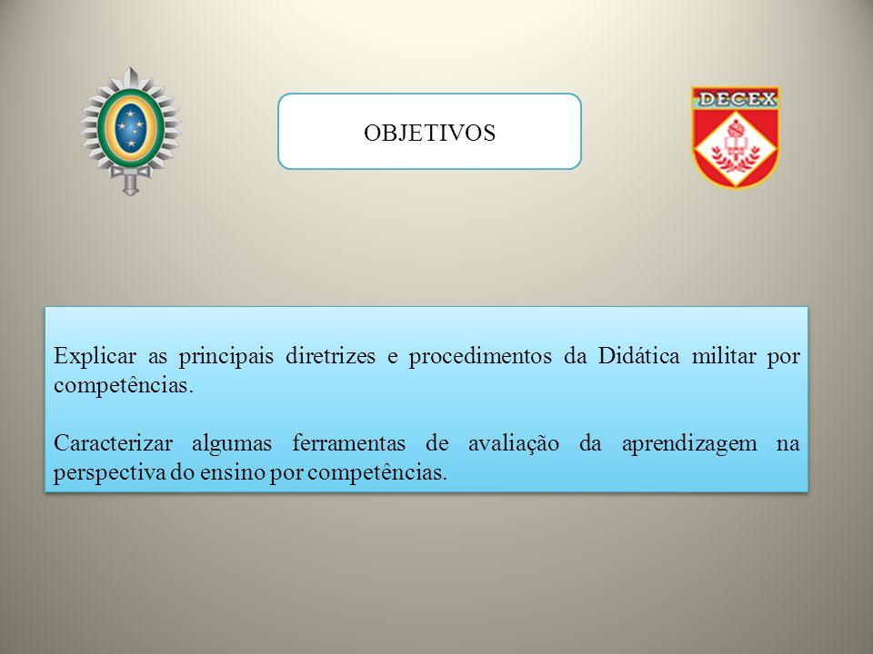 Explicar as principais diretrizes e procedimentos da Didática militar por competências.