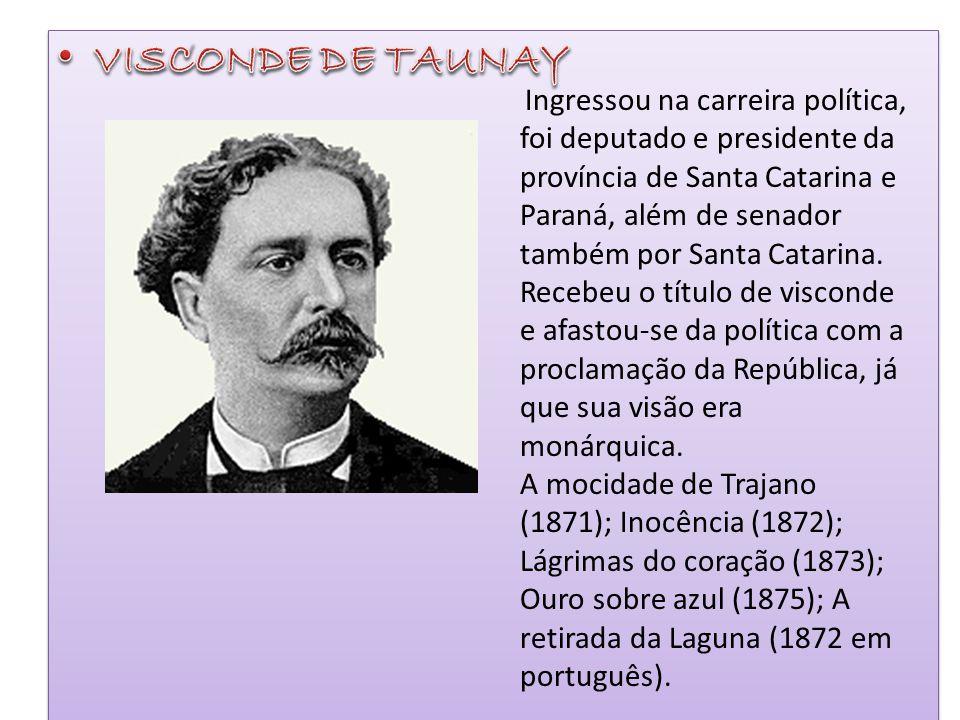 Ingressou na carreira política, foi deputado e presidente da província de Santa Catarina e Paraná, além de senador também por Santa Catarina. Recebeu
