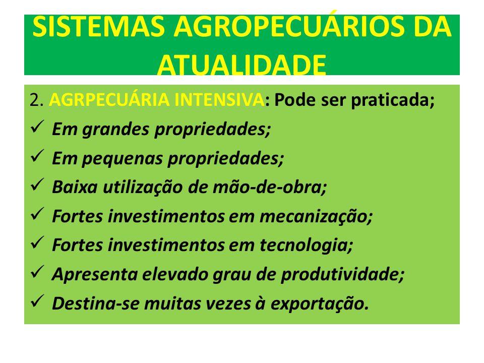 SISTEMAS AGROPECUÁRIOS DA ATUALIDADE 2.