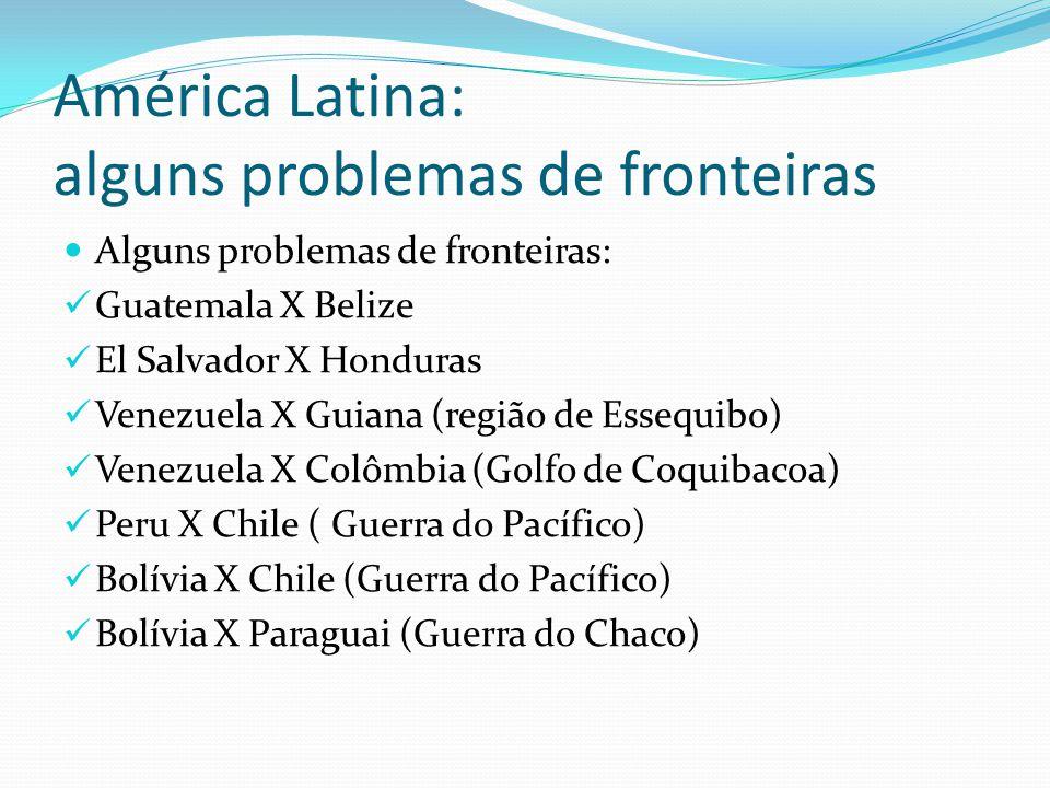 Movimentos Guerrilheiros: Guatemala: União Revolucionária Nacional Guatemalteca (URNG) El Salvador: Frente Farabundo Martí de Libertação Nacional Nicarágua: Frente Sandinista de Libertação Nacional (FSLN) Colômbia: FARC e outros.