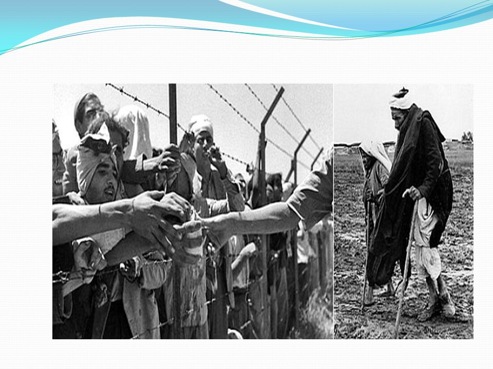 Conflitos árabe-israelenses Guerra dos Seis Dias (em 1967): - Governos do países árabes estimularam os árabes a sair da Palestina para que seus exércitos pudessem arrasar os judeus.