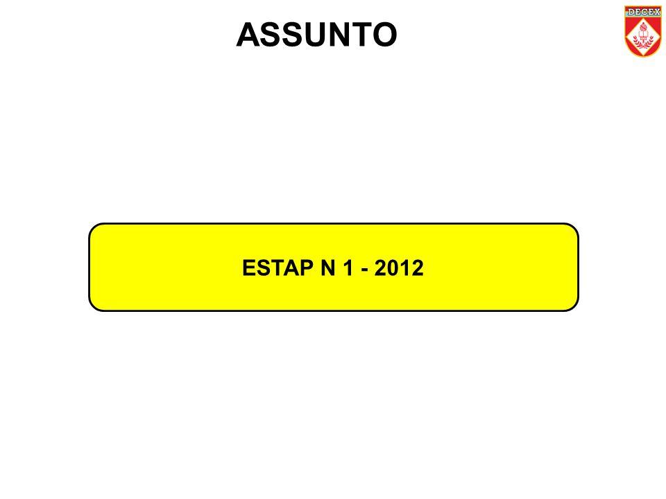 ESTAP N 1 - 2012 ASSUNTO