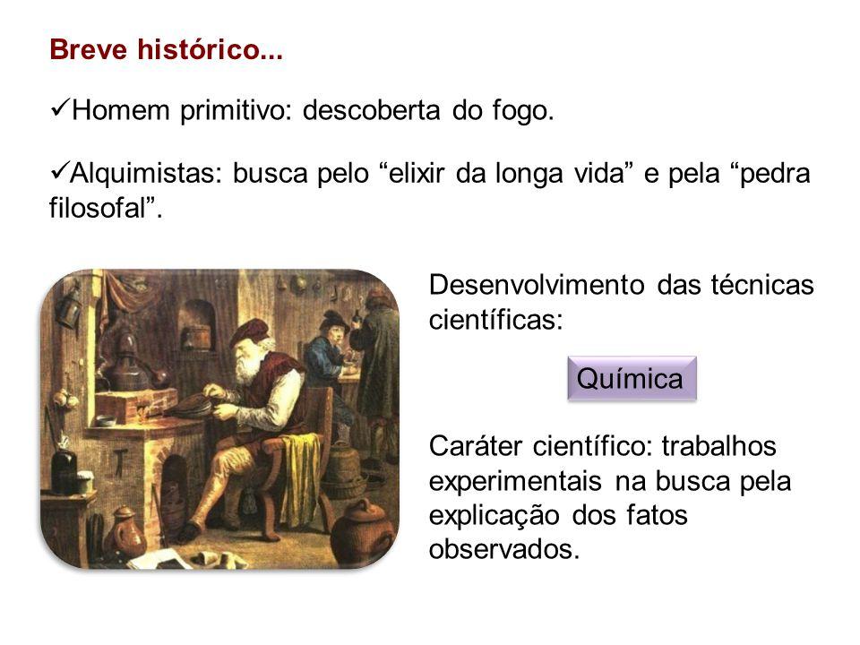 Breve histórico...Alquimistas: busca pelo elixir da longa vida e pela pedra filosofal.