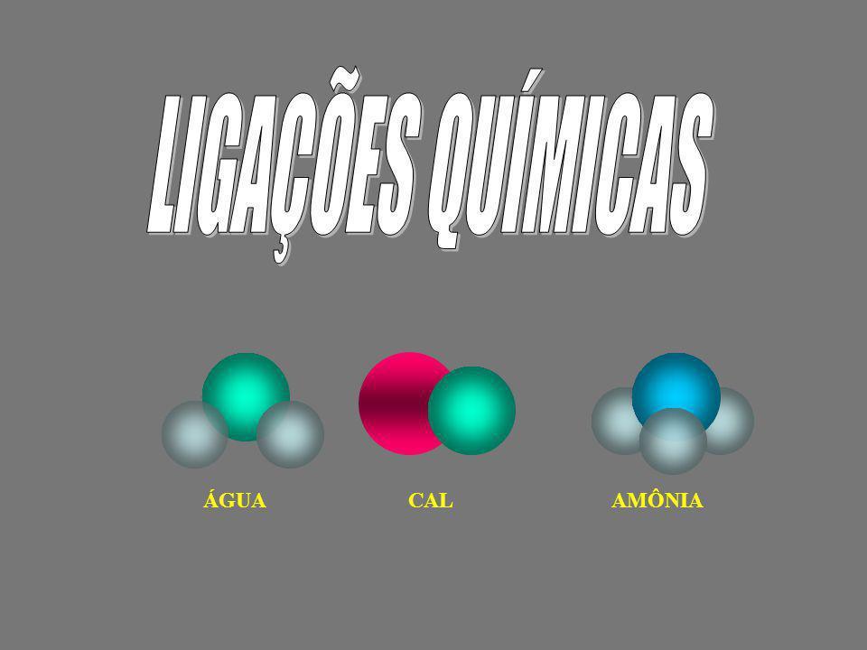 Consideremos os átomos de Sódio e Cloro: 11 Na : 1s 2 2s 2 2p 6 3s 1 17 Cl : 1s 2 2s 2 2p 6 3s 2 3p 5 K=2 L=8 M=1 K=2 L=8 M= 7 Observem que nenhum deles apresenta a última camada completa, por isso não estão estáveis.