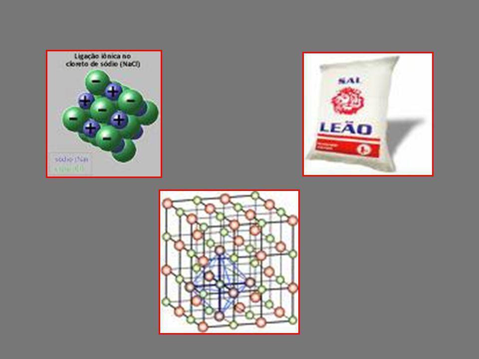 Representação eletrônica ou de LEWIS Na + Cl [Na + ] [ Cl ] - => Por possuírem cargas opostas atraem-se formando a substância conhecidíssima : NaCl ou Cloreto de sódio ou Sal => Essa forma de união atômica recebe o nome de LIGAÇÃO IÔNICA ou LIGAÇÃO ELETROVALENTE.