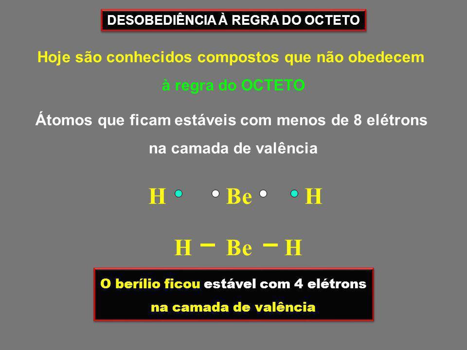 02) Certo átomo pode formar 3 covalências normais e 1 dativa.