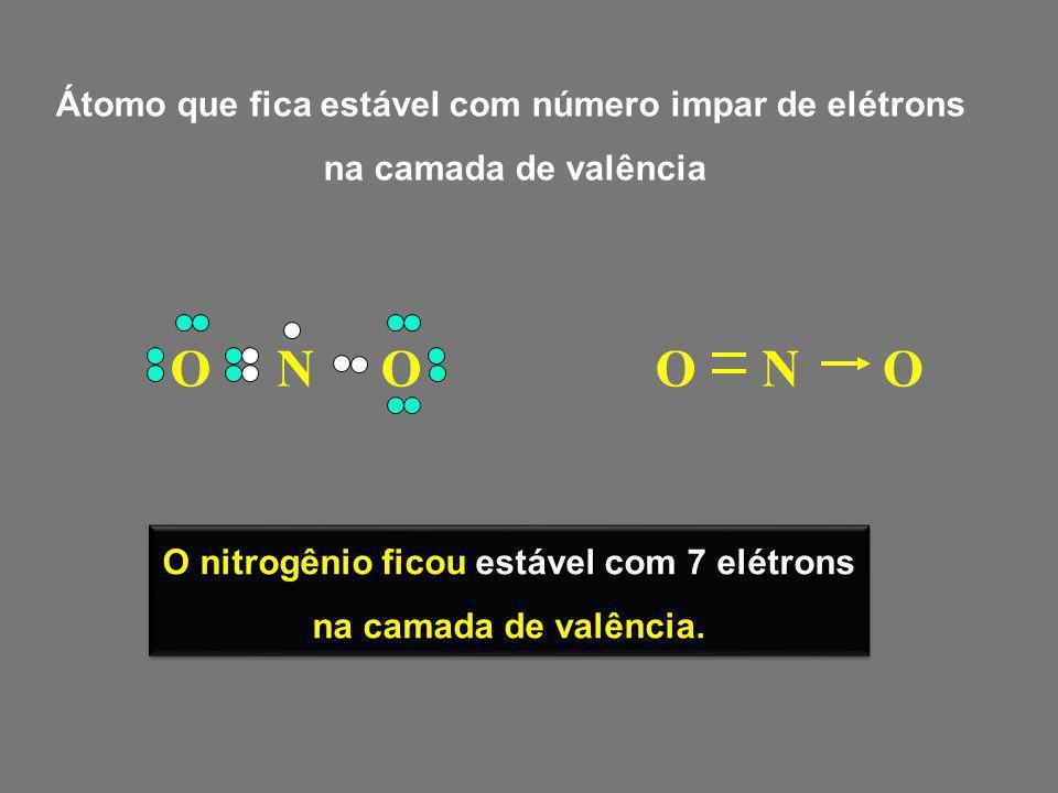 P ClCl ClCl ClCl ClCl ClCl P ClCl ClCl ClCl ClCl ClCl O fósforo ficou estável com 10 elétrons na camada de valência O fósforo ficou estável com 10 elétrons na camada de valência