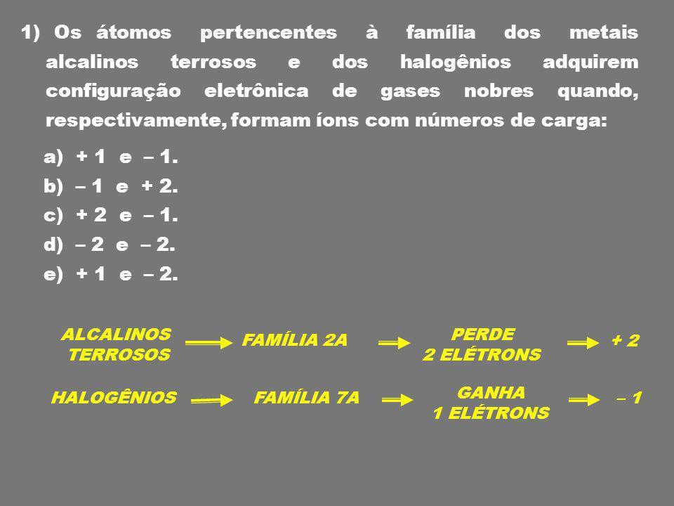 Na maioria das vezes, os átomos que: Perdem elétrons são os metais das famílias 1A, 2A e 3A Perdem elétrons são os metais das famílias 1A, 2A e 3A Recebem elétrons são ametais das famílias 5A, 6A e 7A