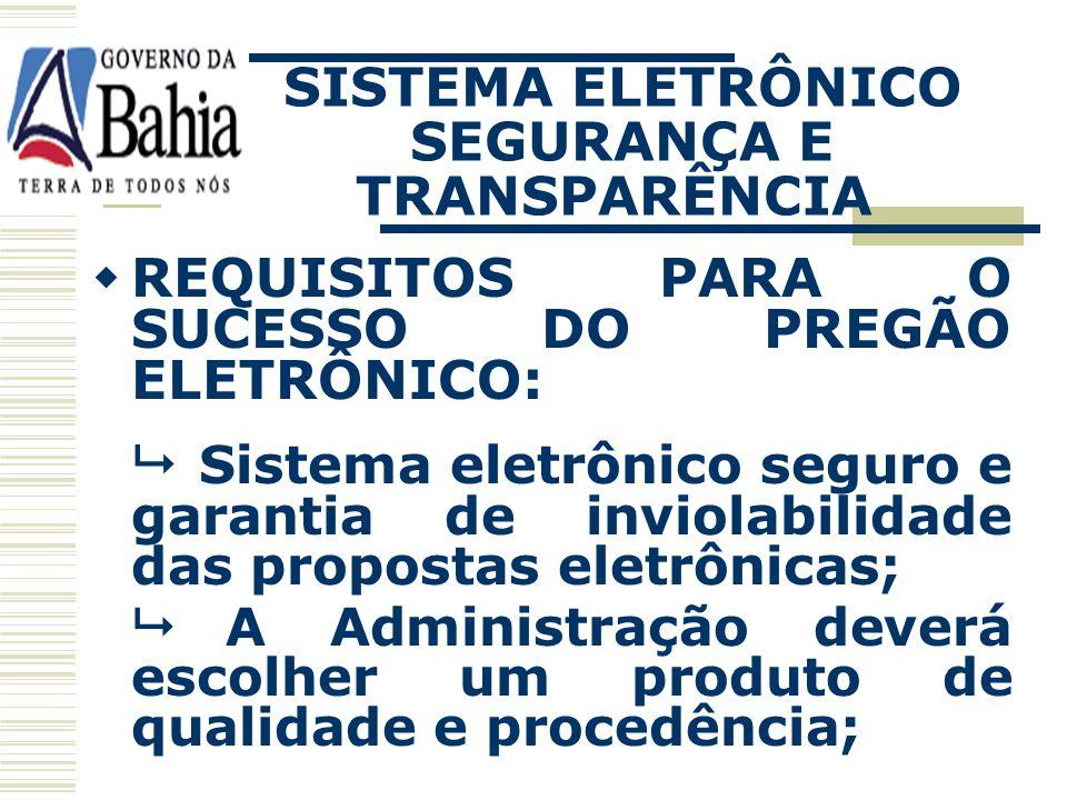 PREGÃO ELETRÔNICO LEGISLAÇÃO: Lei nº 10.520/02, art. 2º, § 1º; Decreto 5.450/05 Lei nº 9.433/05.