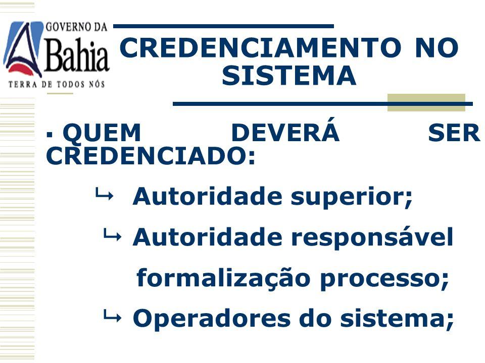 CREDENCIAMENTO NO SISTEMA COMO É FEITO: Através de chave de identificação e de senha individual para o acesso ao sistema. Lei 9.433/05
