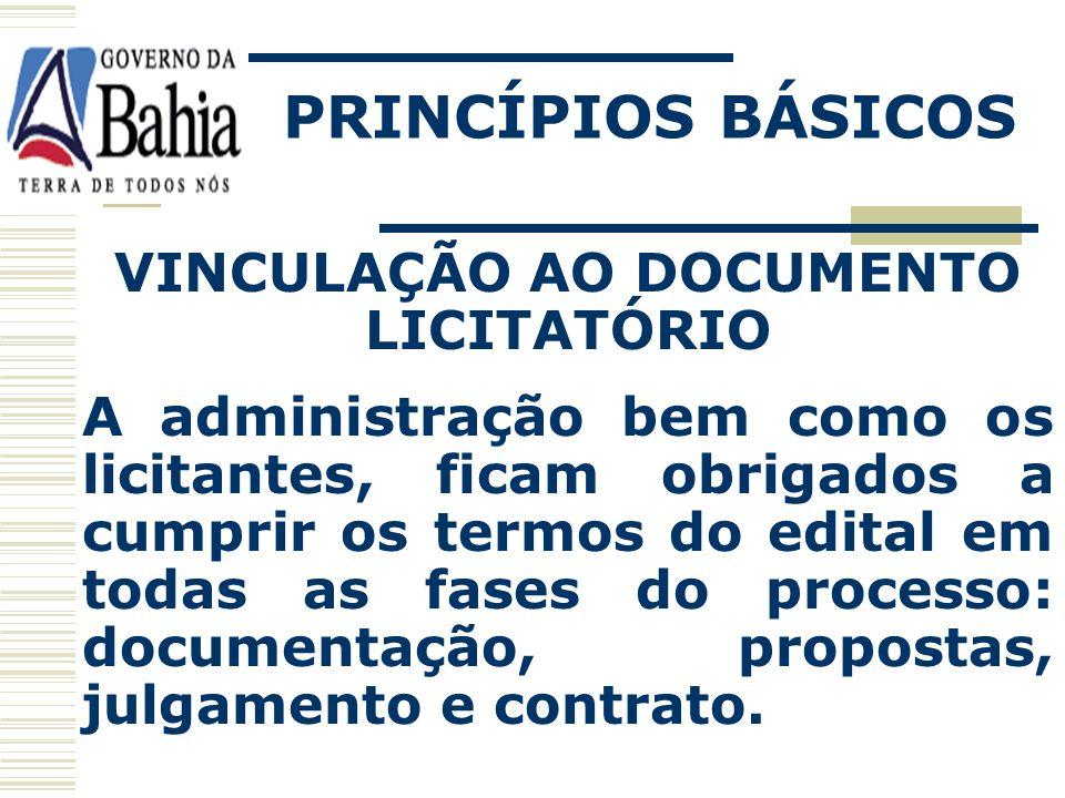 PRINCÍPIOS BÁSICOS PROBIDADE ADMINISTRATIVA O gestor deve ser honesto em cumprir todos os deveres que lhe são atribuídos por força da legislação.