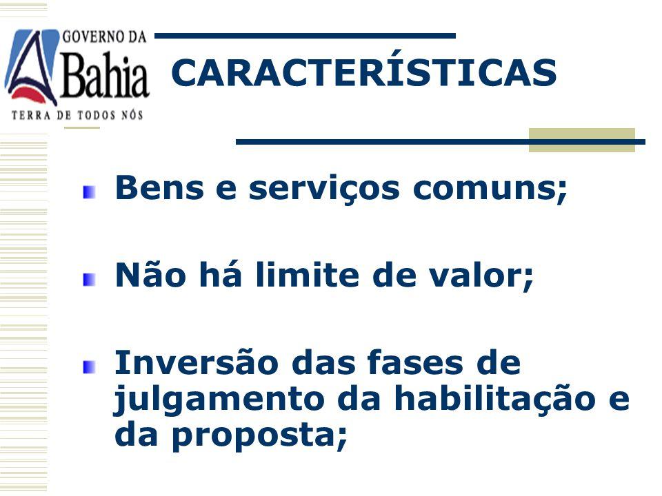 É a modalidade de licitação para a contratação de bens e serviços comuns, qualquer que seja o valor estimado, em que a disputa é feita por meios de pr