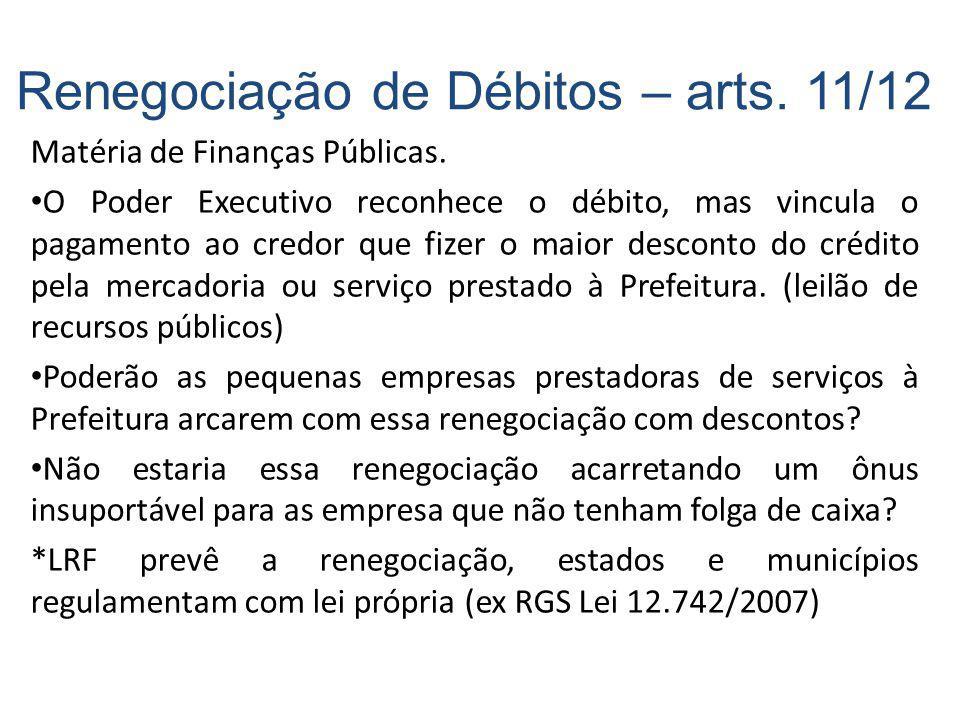 Matéria de Finanças Públicas.