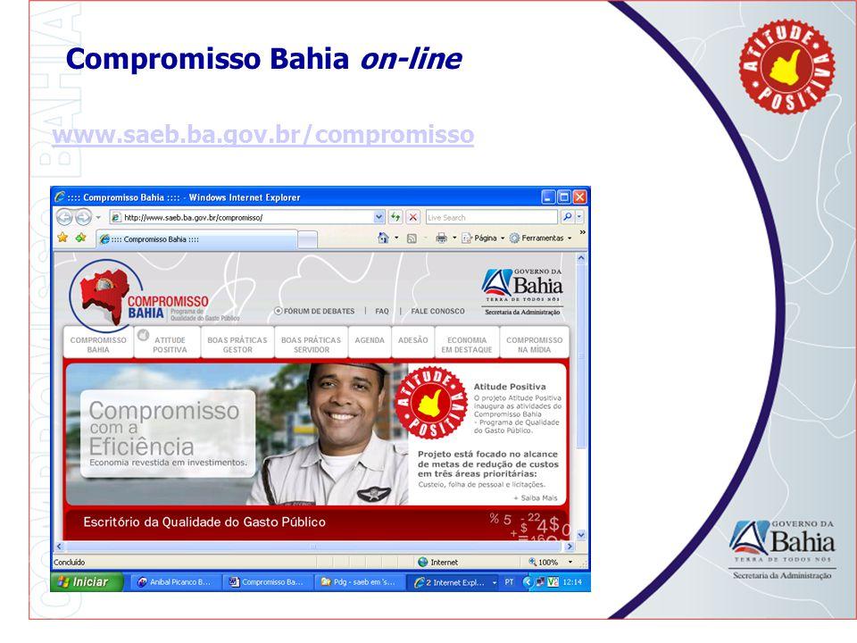 Compromisso Bahia on-line www.saeb.ba.gov.br/compromisso