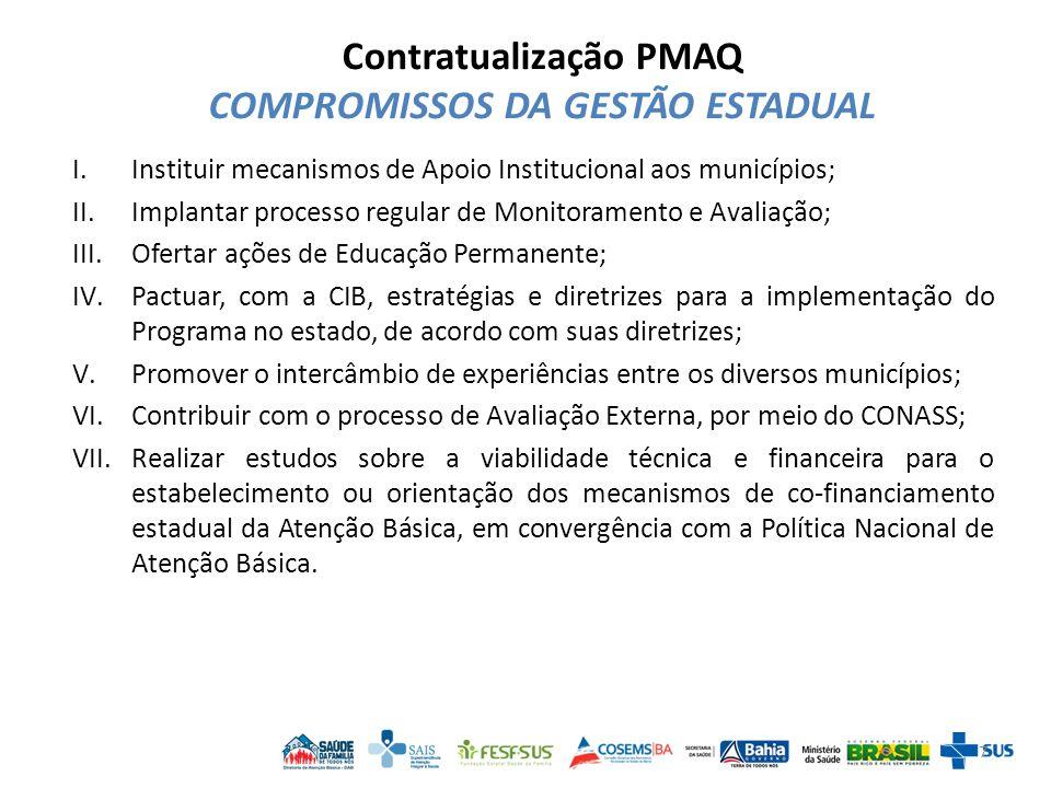 Comissão Estadual do PMAQ-AB - Bahia Objetivo: Promover encontros entre os entes federados e instituições parceiras no intuito de organizar e potencializar as ofertas do SUS Bahia relacionadas ao PMAQ-AB para todos os municípios do estado.