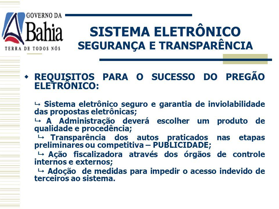 PREGÃO ELETRÔNICO LEGISLAÇÃO: Lei nº 10.520/02, art. 2º, § 1º; Lei nº 9.433/05.
