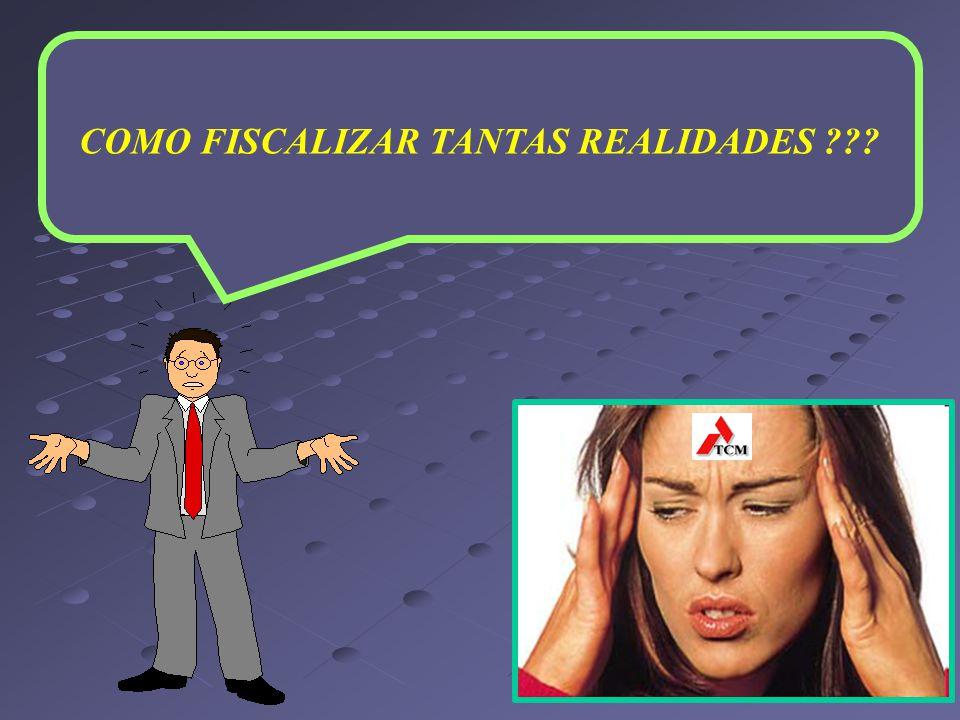 COMO FISCALIZAR TANTAS REALIDADES