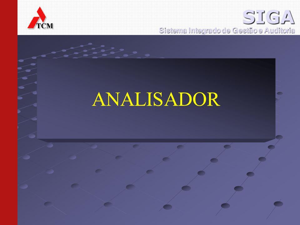 ANALISADOR Sistema Integrado de Gestão e Auditoria SIGA