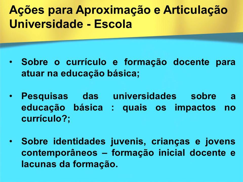 Sobre o currículo e formação docente para atuar na educação básica; Pesquisas das universidades sobre a educação básica : quais os impactos no currícu