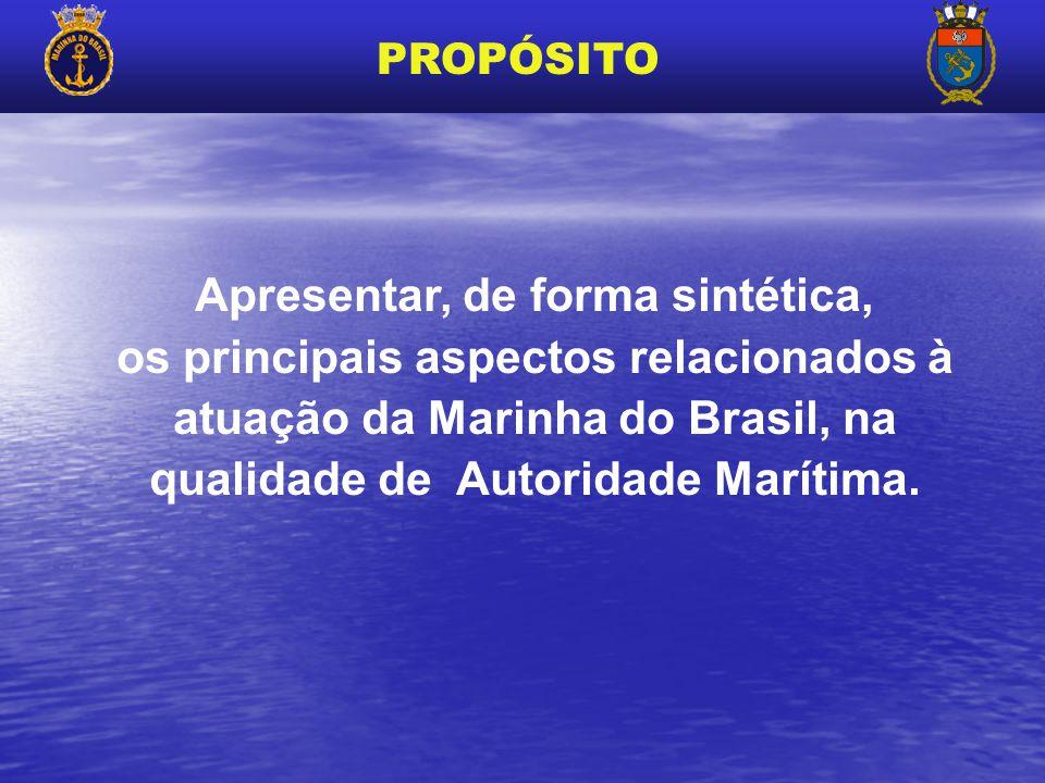 Apresentar, de forma sintética, os principais aspectos relacionados à atuação da Marinha do Brasil, na qualidade de Autoridade Marítima. PROPÓSITO