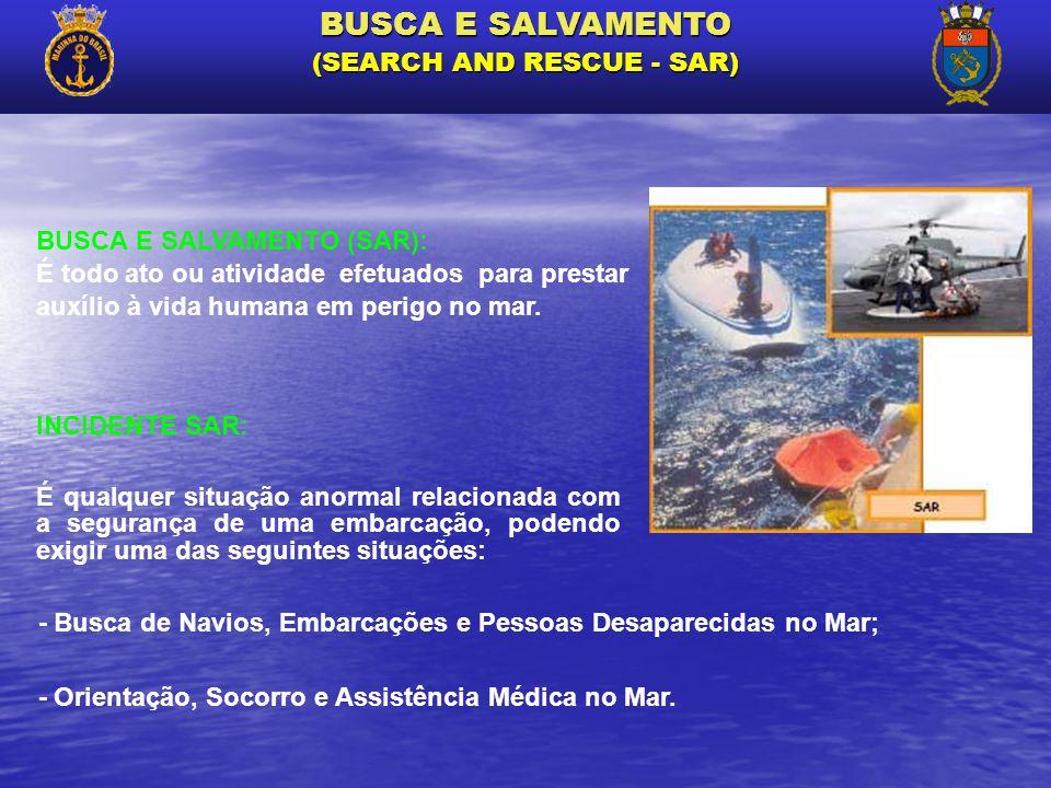 É qualquer situação anormal relacionada com a segurança de uma embarcação, podendo exigir uma das seguintes situações: - Busca de Navios, Embarcações