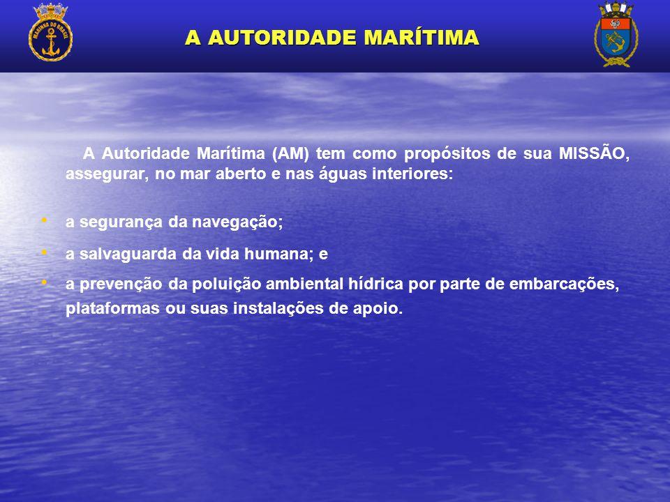 A Autoridade Marítima (AM) tem como propósitos de sua MISSÃO, assegurar, no mar aberto e nas águas interiores: a segurança da navegação; a salvaguarda