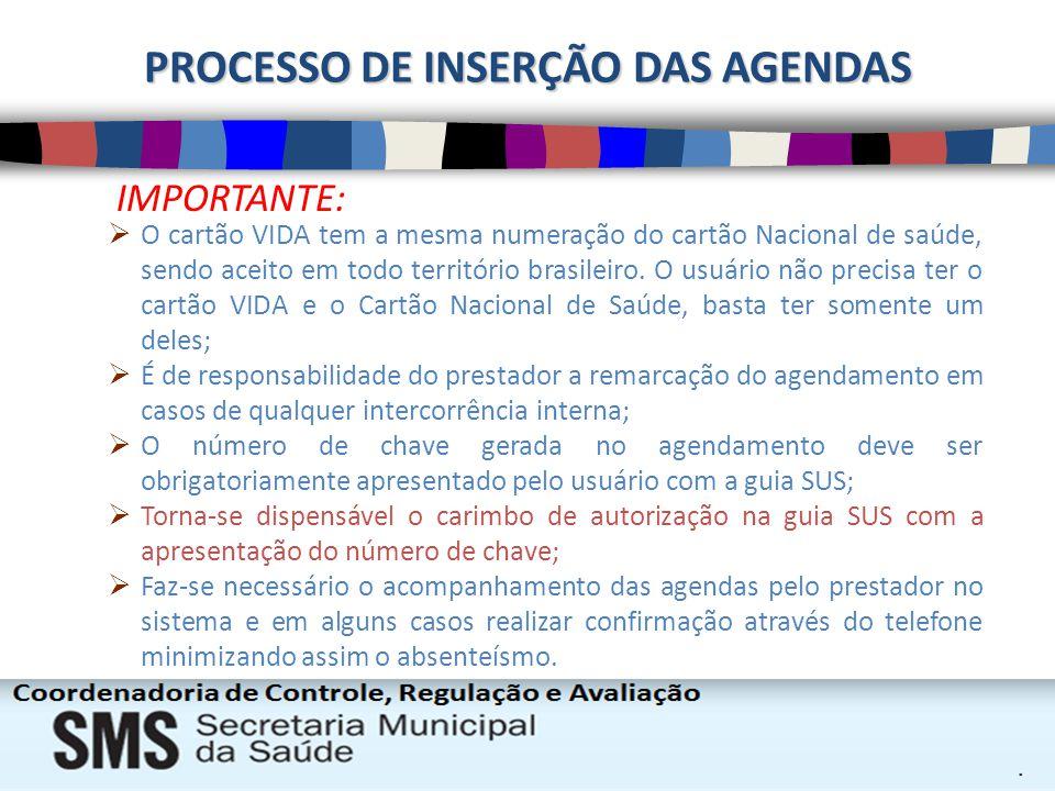IMPORTANTE: O cartão VIDA tem a mesma numeração do cartão Nacional de saúde, sendo aceito em todo território brasileiro. O usuário não precisa ter o c