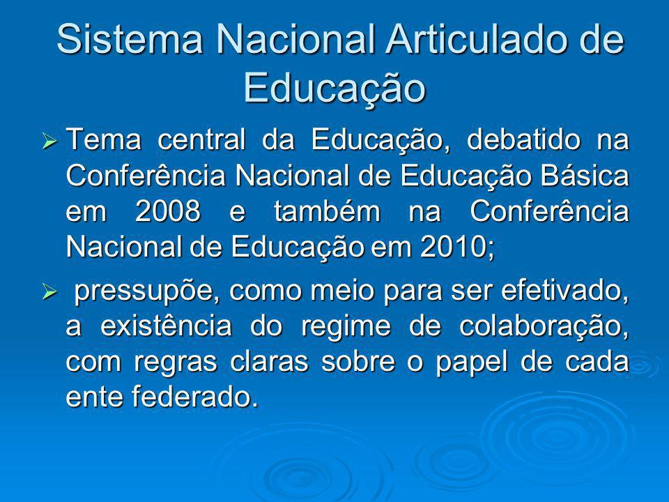 Ideia remonta ao século XIX Manifesto dos Pioneiros da Educação - apontava a educação como fragmentada e desarticulada e já tratava de temas ainda hoje presentes no debate sobre educação, como a descentralização.