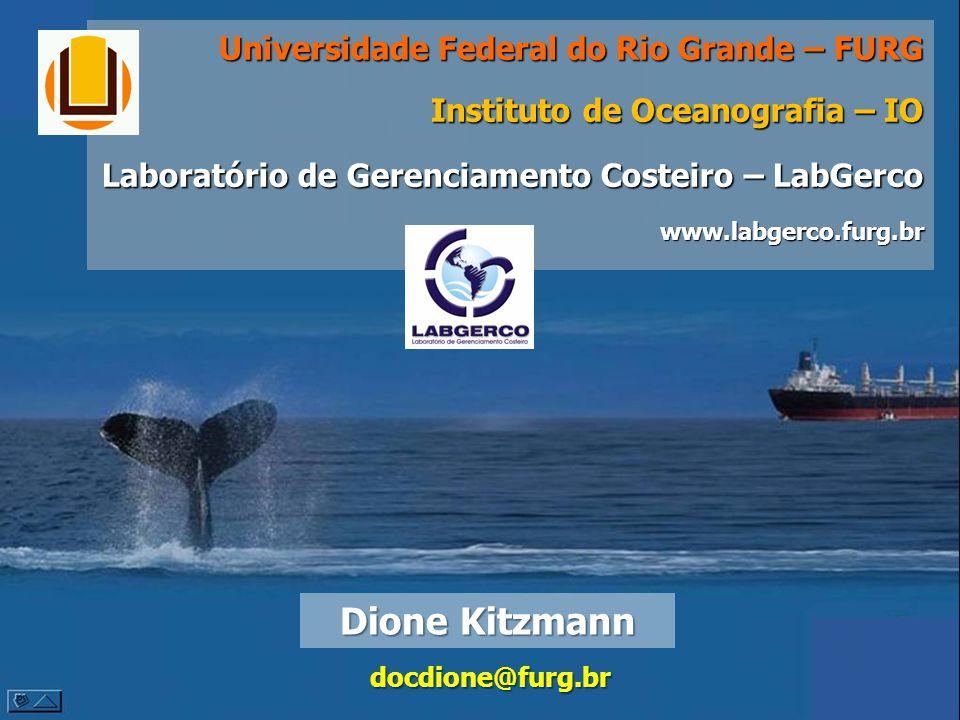 Dione Kitzmann docdione@furg.br Universidade Federal do Rio Grande – FURG Instituto de Oceanografia – IO Laboratório de Gerenciamento Costeiro – LabGe