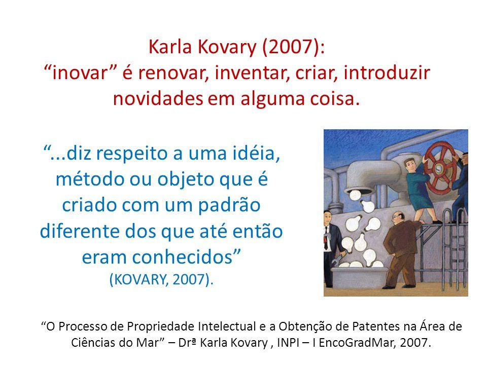 ...diz respeito a uma idéia, método ou objeto que é criado com um padrão diferente dos que até então eram conhecidos (KOVARY, 2007). O Processo de Pro