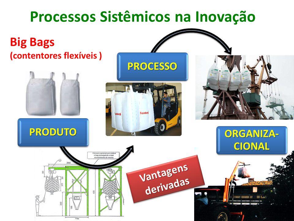 Processos Sistêmicos na Inovação Big Bags (contentores flexíveis ) Vantagens derivadas