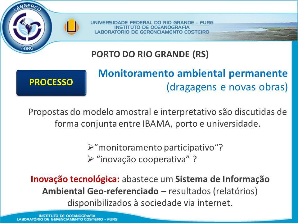 PORTO DO RIO GRANDE (RS) Monitoramento ambiental permanente (dragagens e novas obras) Propostas do modelo amostral e interpretativo são discutidas de