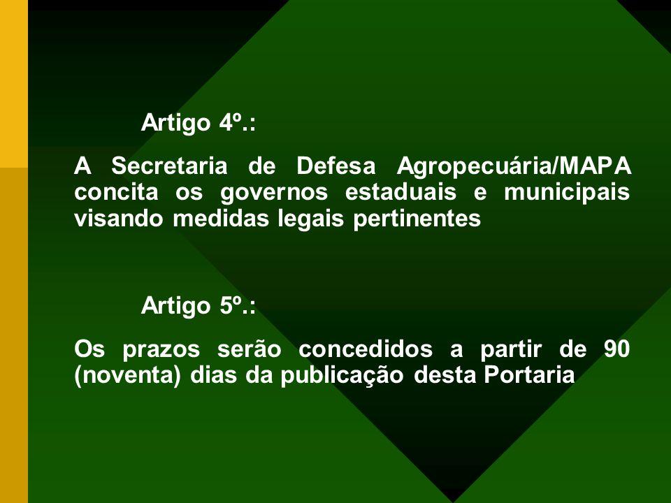 Artigo 2º.: 1)Todos os cortes devem conter marcas, carimbos oficiais com rotulagem de identificação Artigo 3º.: Os cortes deverão ser devidamente emba