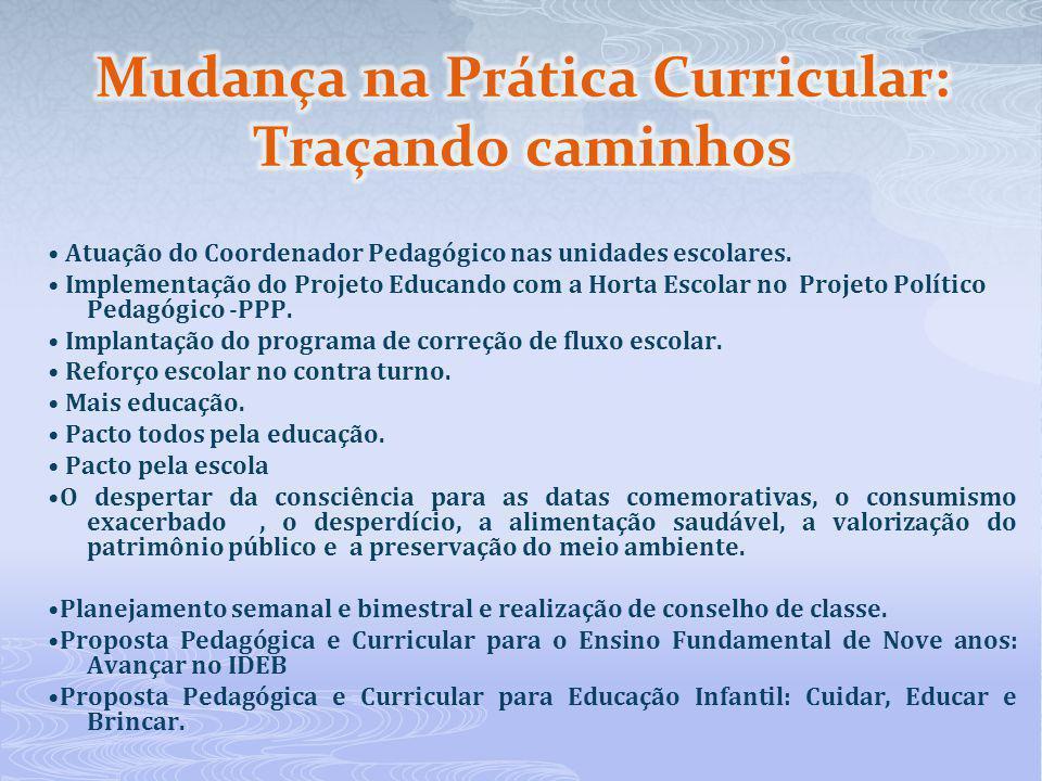 Atuação do Coordenador Pedagógico nas unidades escolares. Implementação do Projeto Educando com a Horta Escolar no Projeto Político Pedagógico -PPP. I