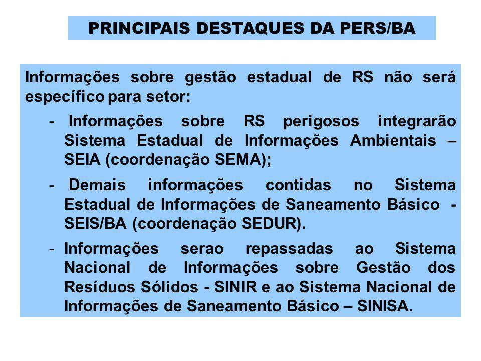 Informações sobre gestão estadual de RS não será específico para setor: - Informações sobre RS perigosos integrarão Sistema Estadual de Informações Am