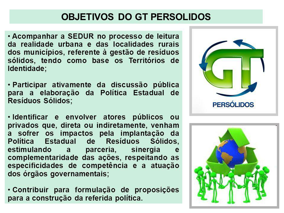 Acompanhar a SEDUR no processo de leitura da realidade urbana e das localidades rurais dos municípios, referente à gestão de resíduos sólidos, tendo c