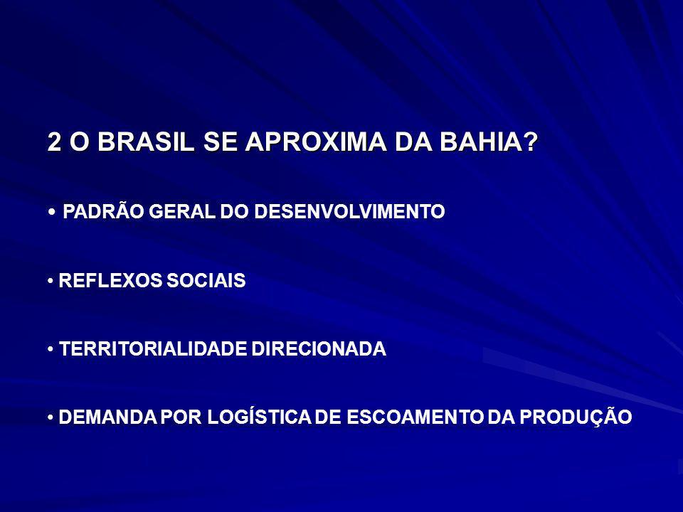 PADRÃO GERAL DO DESENVOLVIMENTO REFLEXOS SOCIAIS TERRITORIALIDADE DIRECIONADA DEMANDA POR LOGÍSTICA DE ESCOAMENTO DA PRODUÇÃO 2 O BRASIL SE APROXIMA D