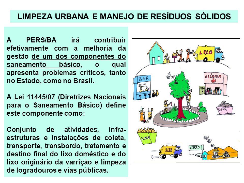 A PERS/BA irá contribuir efetivamente com a melhoria da gestão de um dos componentes do saneamento básico, o qual apresenta problemas críticos, tanto