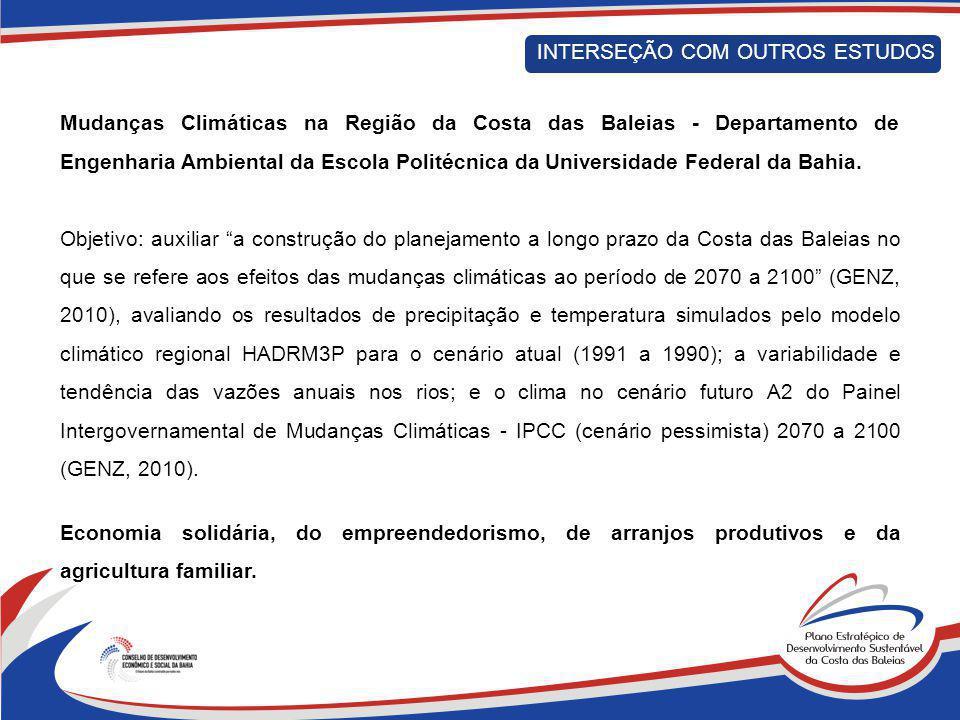 Mudanças Climáticas na Região da Costa das Baleias - Departamento de Engenharia Ambiental da Escola Politécnica da Universidade Federal da Bahia. Obje
