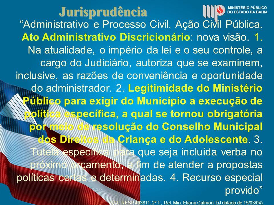 Jurisprudência Administrativo e Processo Civil. Ação Civil Pública.