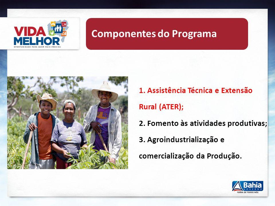 Publico Beneficiário Agricultores (as) Familiares Beneficiários da ATER 15% dos Agricultores (as) Familiares – IBGE (cota mínima 100 A.F/Município) 100% dos Povos Tradicionais (Indígenas e Quilombolas) 100% dos Beneficiários do Programa Garantia Safra
