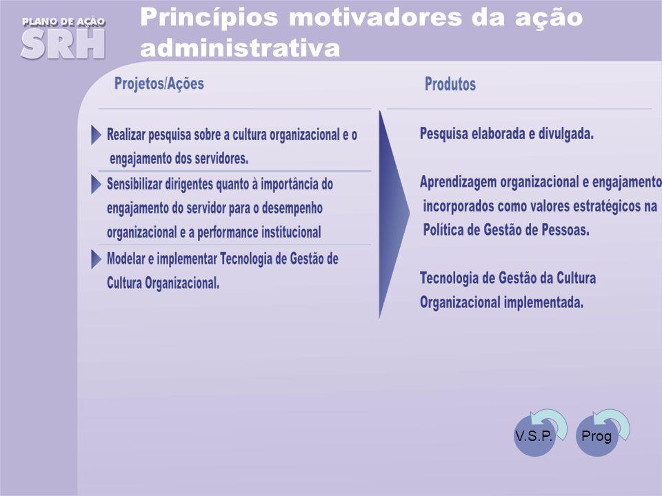 Princípios motivadores da ação administrativa V.S.P.Prog