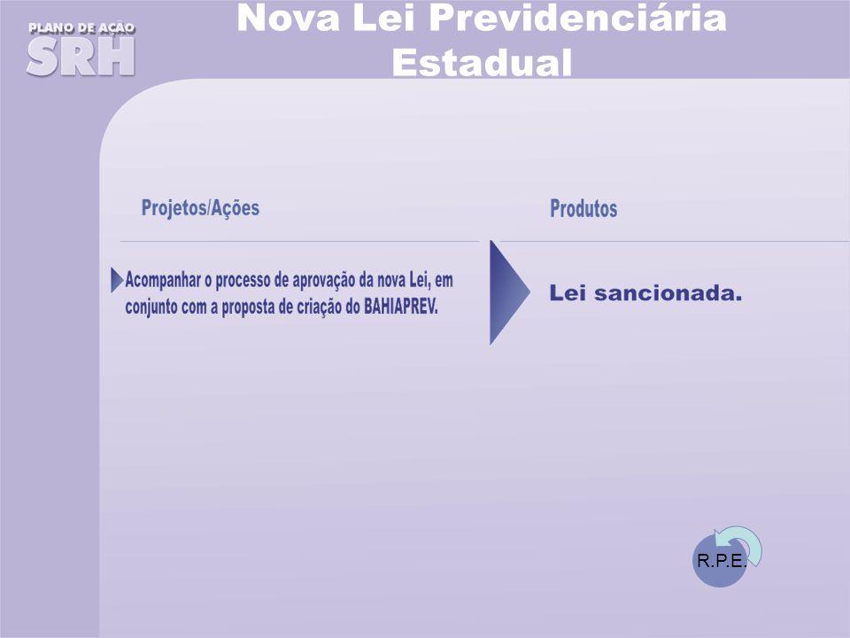Nova Lei Previdenciária Estadual R.P.E.