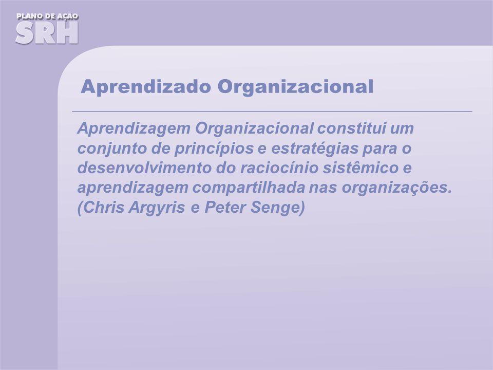 Aprendizagem Organizacional constitui um conjunto de princípios e estratégias para o desenvolvimento do raciocínio sistêmico e aprendizagem compartilhada nas organizações.