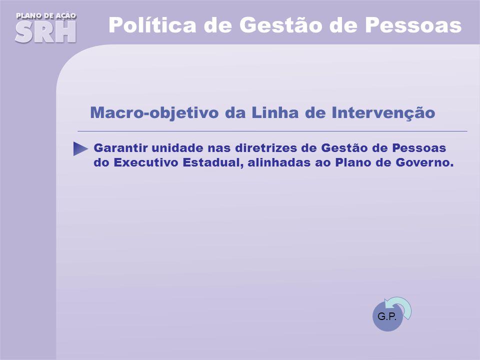 Garantir unidade nas diretrizes de Gestão de Pessoas do Executivo Estadual, alinhadas ao Plano de Governo.