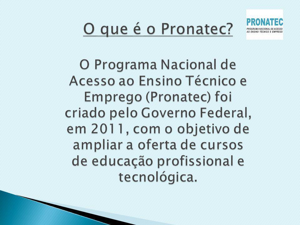 O que é o Pronatec.