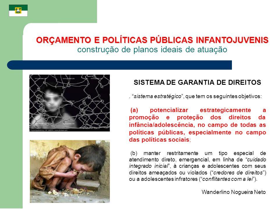 SISTEMA DE GARANTIA DE DIREITOS. sistema estratégico, que tem os seguintes objetivos: (a) potencializar estrategicamente a promoção e proteção dos dir