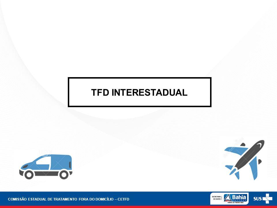 TFD INTERESTADUAL COMISSÃO ESTADUAL DE TRATAMENTO FORA DO DOMICÍLIO – CETFD